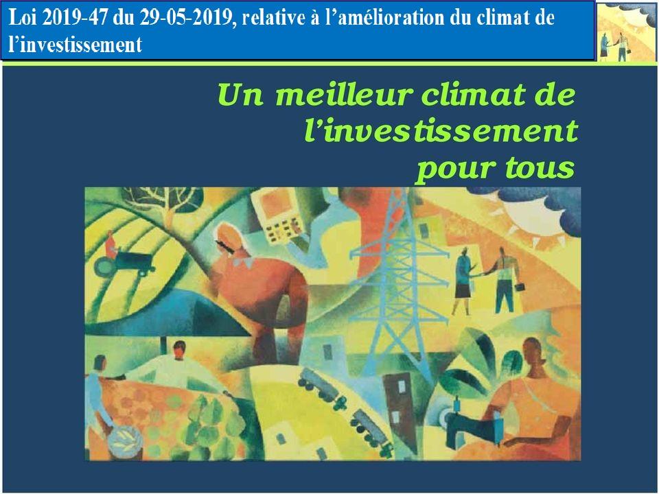 loi 2019-47 du 29-05-2019 relative à l'amélioration du climat de l'investissement - Expert comptable Tunisie - Cabinet expert comptable Tunisie - ckt Audit et expertise en Tunisie